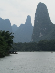 karst peaks along the Li River